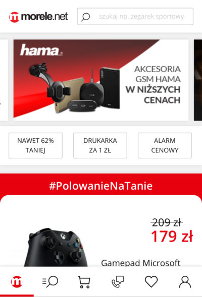slajder w ecommerce pod mobile